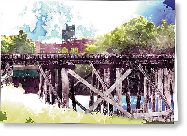 Trestle Greeting Cards - NS and T Trestle and WHVS Greeting Card by The Art of Marsha Charlebois