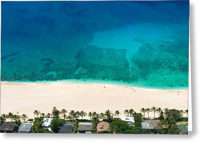 Pipeline Reef From Above Greeting Card by Sean Davey