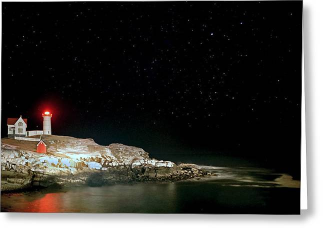 Cape Neddick Greeting Cards - Nubble 07 Greeting Card by Jeff Stallard