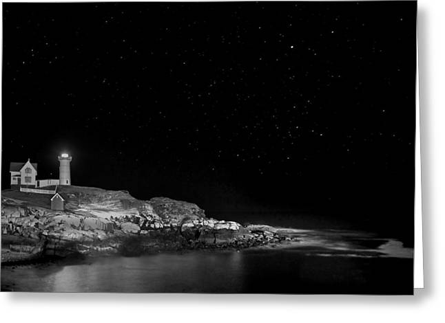 Cape Neddick Greeting Cards - Nubble 08 Greeting Card by Jeff Stallard