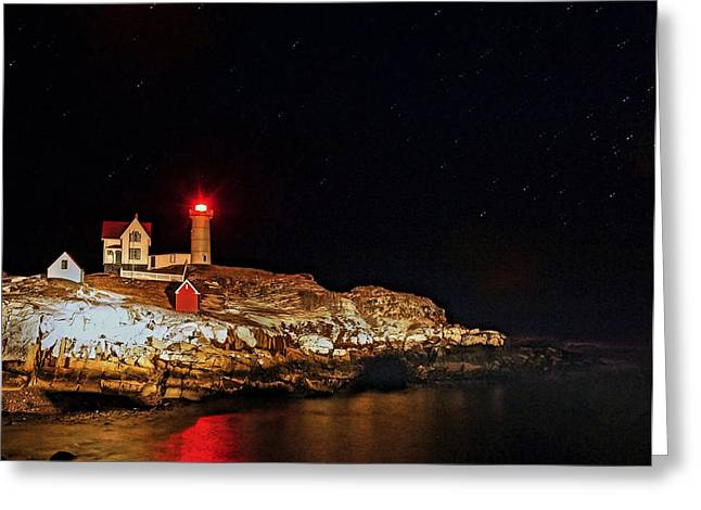 Cape Neddick Greeting Cards - Nubble 09 Greeting Card by Jeff Stallard
