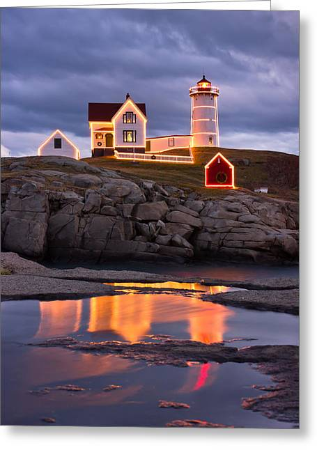 Best Sellers -  - Cape Neddick Lighthouse Greeting Cards - Nubble Greeting Card by Benjamin Williamson