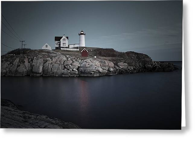 Cape Neddick Lighthouse Greeting Cards - Nubble Light Greeting Card by Andrea Galiffi