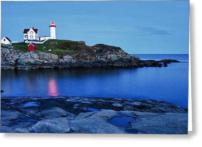 Nubble Light Greeting Card by Heather Reeder