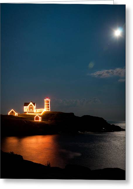 Cape Neddick Lighthouse Greeting Cards - Nubble Light Greeting Card by Matt Owen