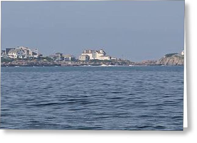 Cape Neddick Greeting Cards - Nubble Light Panorama Greeting Card by Michael Saunders