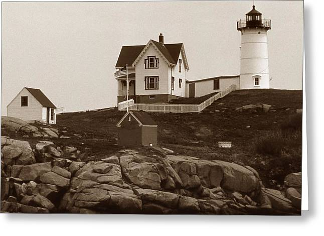 NUBBLE LIGHT Greeting Card by Skip Willits