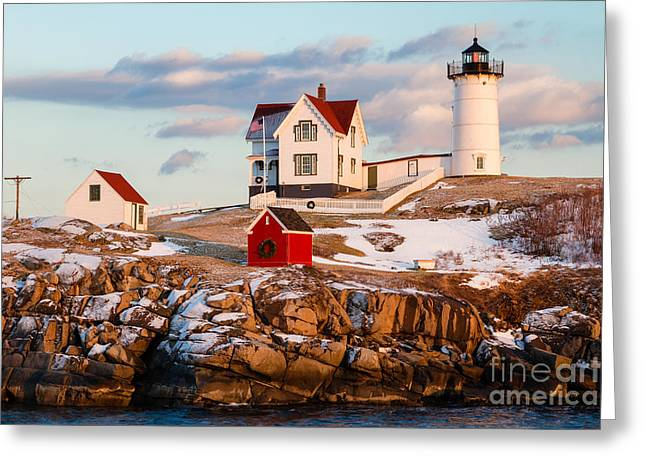 Nubble Light York Maine Greeting Card by Dawna  Moore Photography