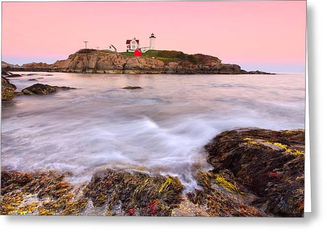 Cape Neddick Greeting Cards - Nubble Lighthouse 2 Greeting Card by Emmanuel Panagiotakis