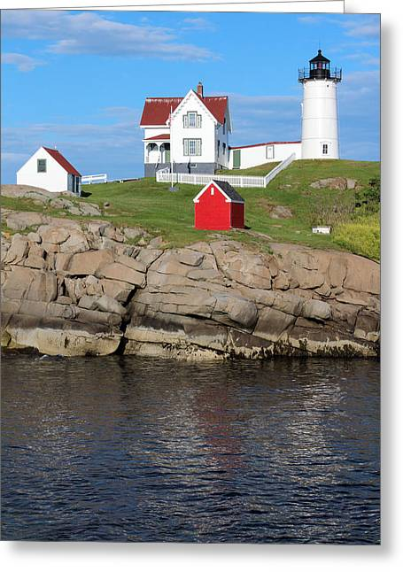 Cape Neddick Greeting Cards - Nubble Lighthouse Greeting Card by Bambi Dingman