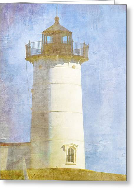 New England Lights Greeting Cards - Nubble Lighthouse Greeting Card by Carol Leigh