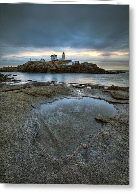 Canon 5d Mark Ii Greeting Cards - Nubble Lighthouse  Greeting Card by Eric Gendron