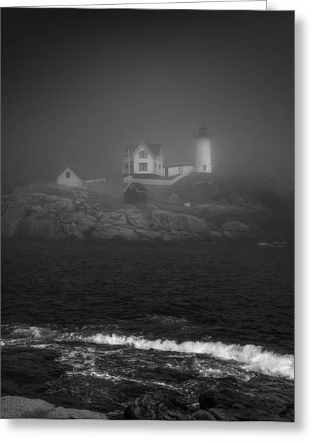 Maine Coast Greeting Cards - Nubble Lighthouse Greeting Card by Joseph Smith