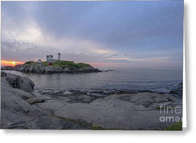 Cape Neddick Lighthouse Greeting Cards - Nubble Lighthouse Greeting Card by Steven Ralser
