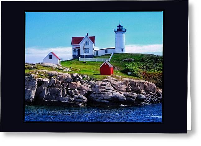Digital Photography Greeting Cards - The Nubble Light Greeting Card by Thom Zehrfeld