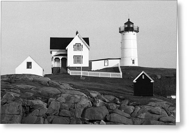 Cape Neddick Lighthouse Greeting Cards - Nubble Lighthouse Greeting Card by Will Gunadi