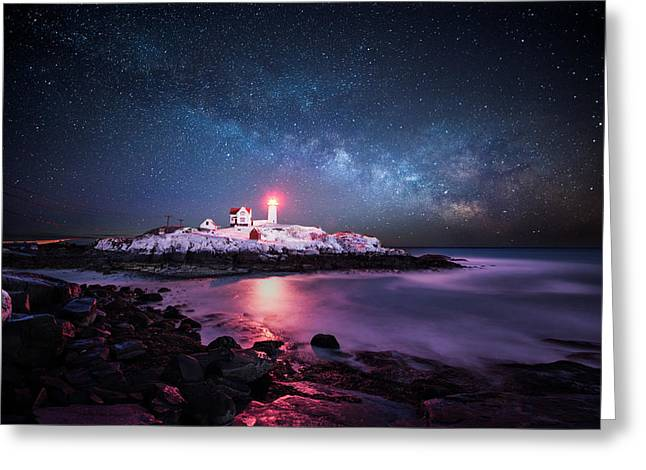 Astrophotogrpahy Greeting Cards - Nubble Nights Greeting Card by Moe Chen
