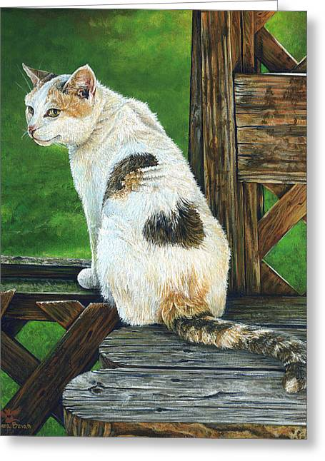 Best Sellers -  - Patch Greeting Cards - Nubby Greeting Card by Cara Bevan