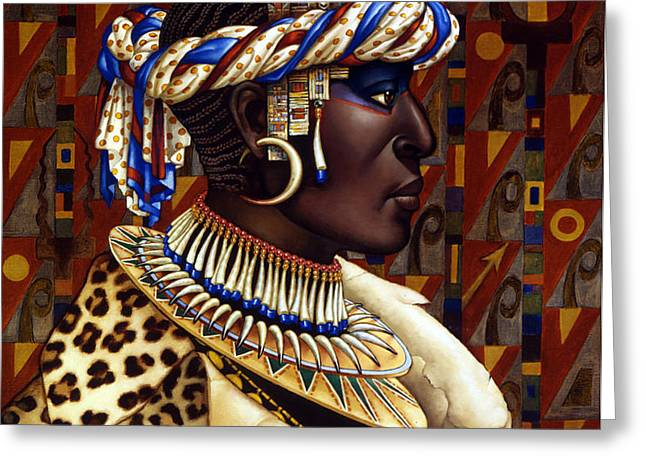 Nubian Prince Greeting Card by Jane Whiting Chrzanoska