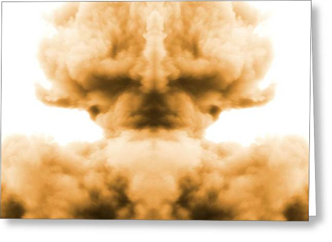 End Of War Greeting Cards - Nuclear Explosion Greeting Card by Dan Sproul