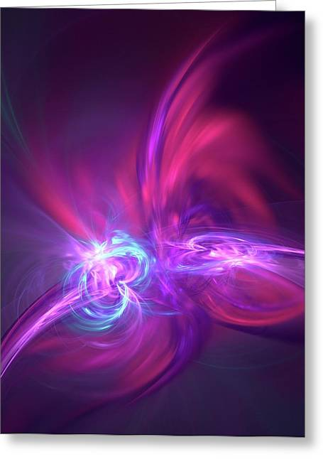 Nuclear Fusion Greeting Card by David Parker