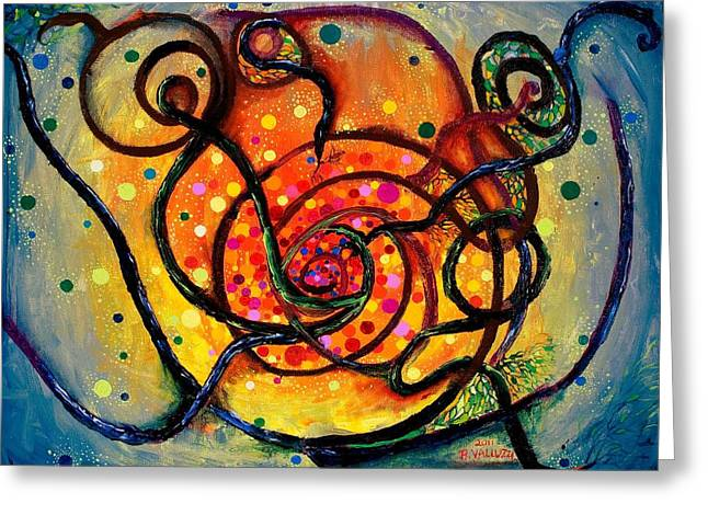 Neutron Greeting Cards - Nuclear Fusion Greeting Card by Regina Valluzzi