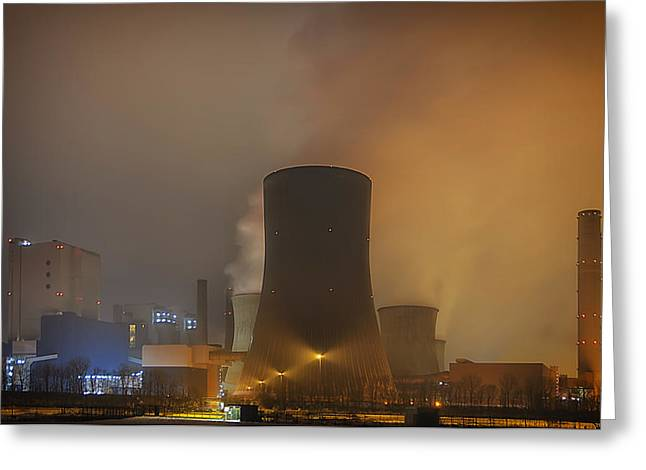Power Plants Greeting Cards - Nuclear Power Greeting Card by Mountain Dreams