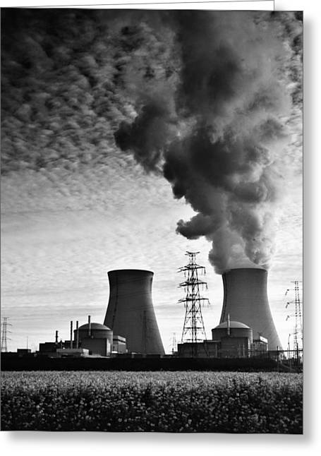 Contamination Greeting Cards - Nuclear Power Plant Greeting Card by Dirk Ercken