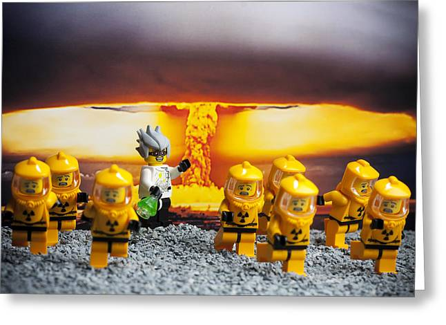 Lego Greeting Cards - Nuclear Greeting Card by Samuel Whitton