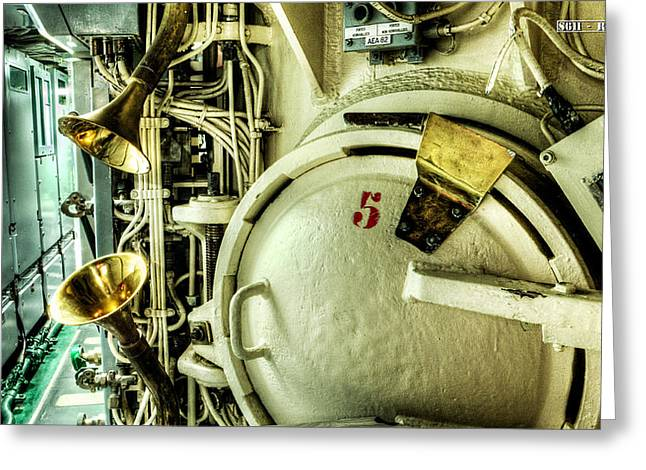 Redoutable Greeting Cards - Nuclear submarine missile chamber Greeting Card by Weston Westmoreland