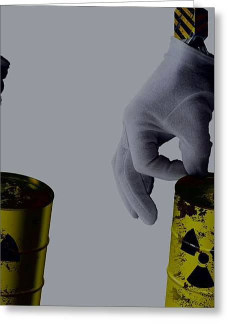 Industrial Concept Greeting Cards - Nuclear waste disposal, conceptual image Greeting Card by Science Photo Library