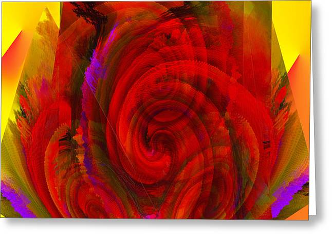Yellow Line Digital Art Greeting Cards - Nucleolus Greeting Card by Camille Lopez