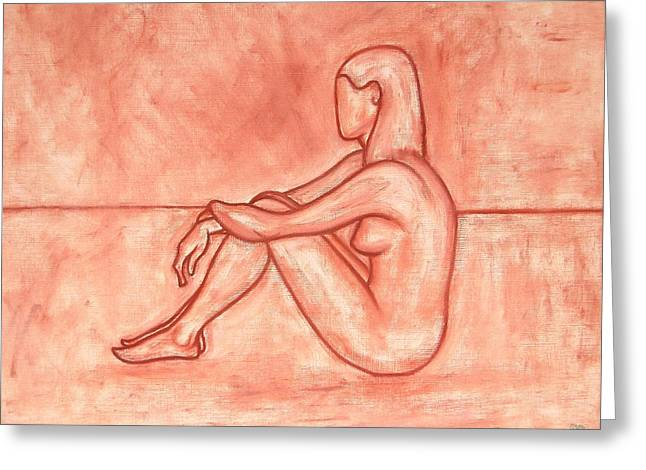 Figurative Drawing Drawings Greeting Cards - Nude 26 Greeting Card by Patrick J Murphy