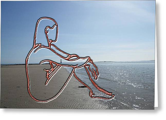 Print Card Greeting Cards - Nude 36 Greeting Card by Patrick J Murphy