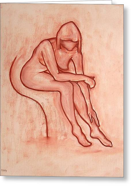 Artcards Greeting Cards - Nude 45 Greeting Card by Patrick J Murphy