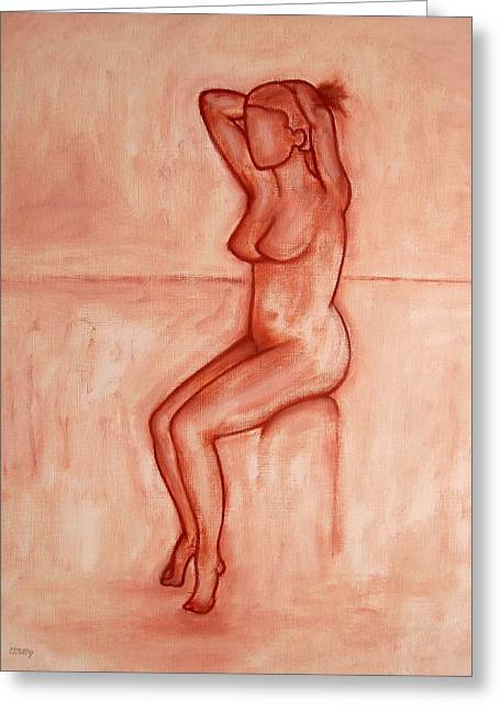 Nude 5 Greeting Card by Patrick J Murphy