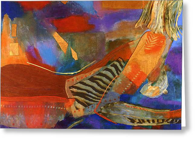 Nude Abstracted Greeting Card by Diane Fine