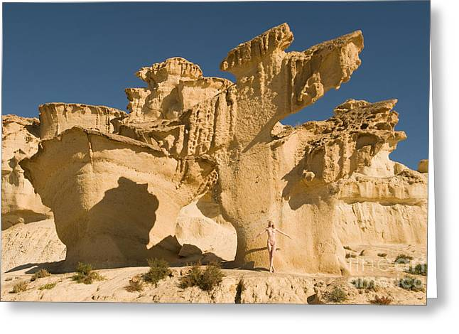 Nude Greeting Cards - Nude and sandstone Greeting Card by John Tisbury