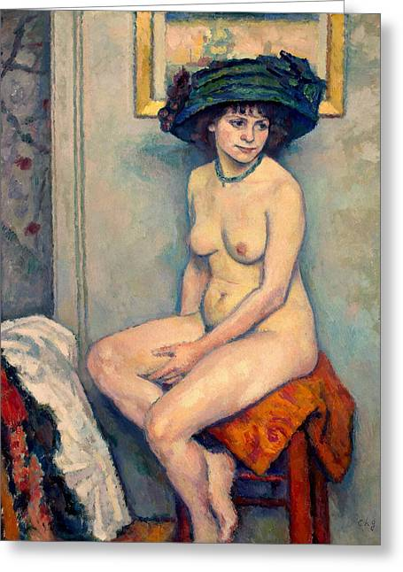 Francois Greeting Cards - Nude Greeting Card by Charles-Francois-Prosper Guerin