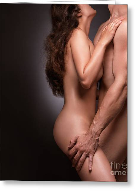 Nude Couple Naked Bodies Greeting Card by Oleksiy Maksymenko