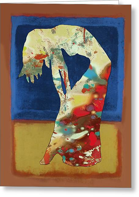 Stylized Greeting Cards - Nude dancing pop stylised art poster Greeting Card by Kim Wang