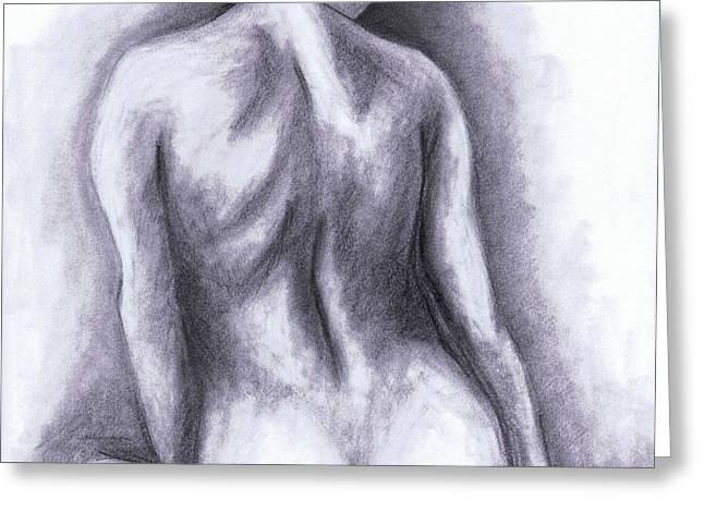 Nude Drawing 01 Greeting Card by Kamil Swiatek