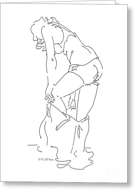 Gordon Punt Greeting Cards - Nude Female Drawings 1 Greeting Card by Gordon Punt
