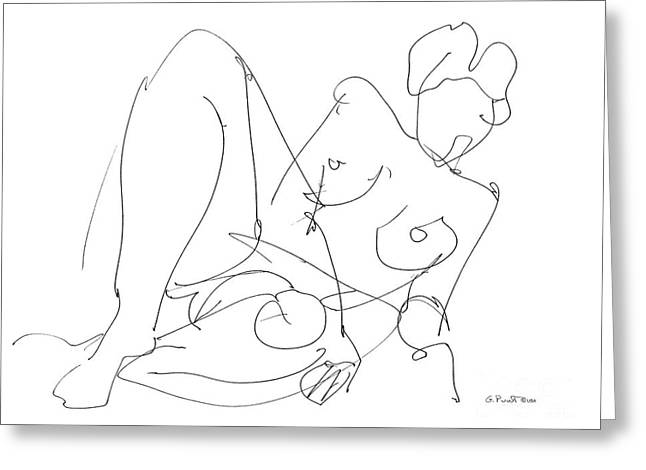 Gordon Punt Greeting Cards - Nude Female Drawings 15 Greeting Card by Gordon Punt