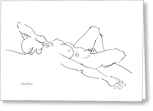 Gordon Punt Greeting Cards - Nude Female Drawings 2 Greeting Card by Gordon Punt