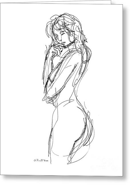 Gordon Punt Greeting Cards - Nude Female Sketches 1 Greeting Card by Gordon Punt