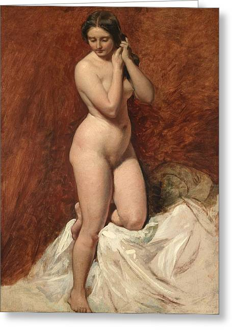 Nude From The Front Greeting Card by William Etty