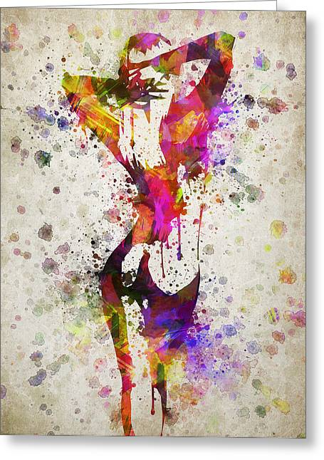 Nude Art Digital Art Greeting Cards - Nude in Color Greeting Card by Aged Pixel