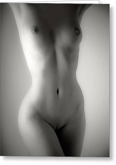 Woman Torso Photograph Greeting Cards - Nude No.3 Greeting Card by Matjaz Preseren