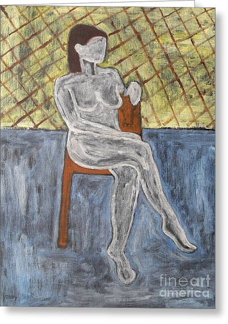 Nude Woman Greeting Card Greeting Cards - Nude Greeting Card by Patrick J Murphy